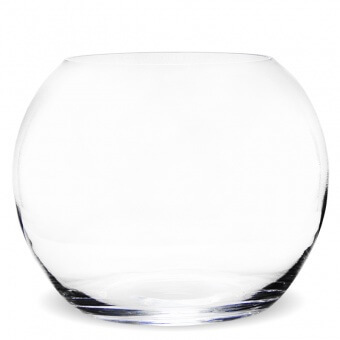 Clear gömb üveg váza 26cm