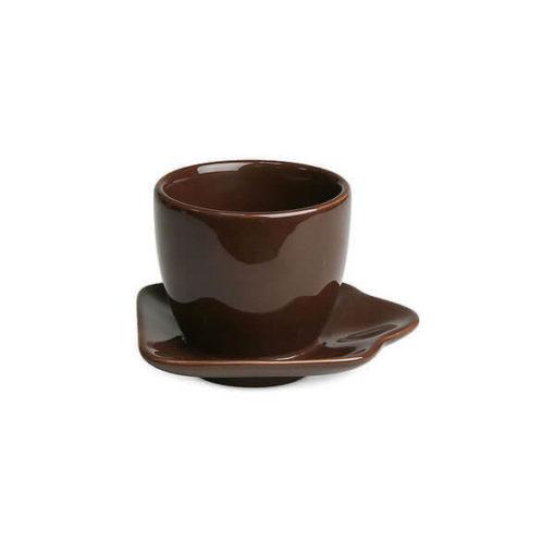 Hagyományos kávés szett, barna