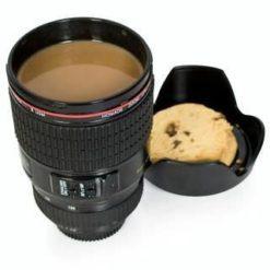 Canon objektívet mintázó bögre