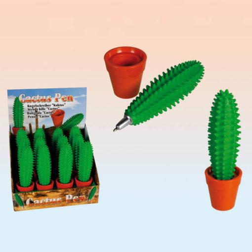 Kék tintával fogó, kaktusz formájú asztali toll