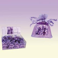 Apró, levendula illatú gyöngyök, lila csomagolásban
