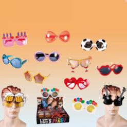 Többféle műanyagból készült vicces szemüveg
