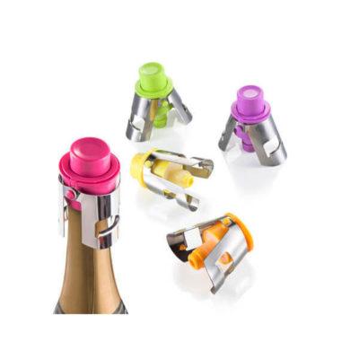 Színes, műanyag pezsgődugó
