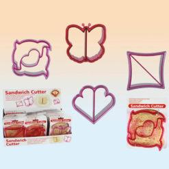 Különböző mintájú szendvics kiszúrók