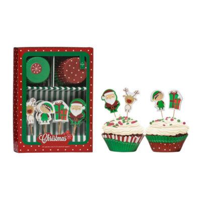 Christmas muffin dekoráló szett