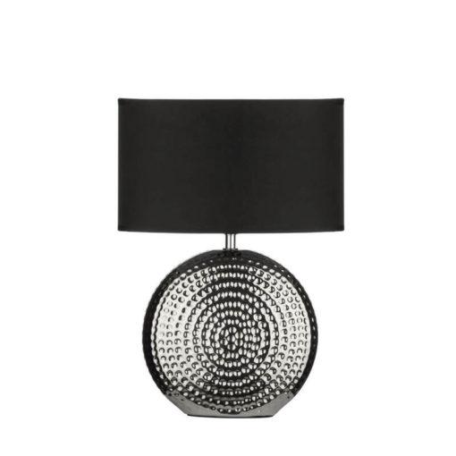Egyedi, fekete és króm színű lámpa