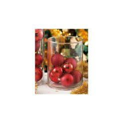 Karácsonyi gömbök, vázával