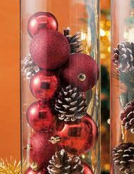 Tobozos karácsonyi díszítő készlet, vázával