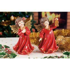 Karácsonyi álló angyal dekoráció