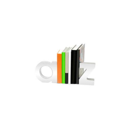 Stílusos fehér könyvtámasz