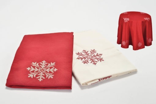 Kör alakú, karácsonyi stílusú terítő