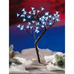 45 cm-es, kék ledes udvari dekoráció