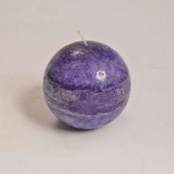 Gömb alakú gyertya, levendula illattal