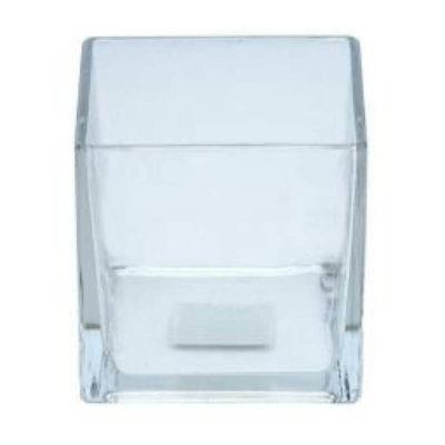 Kocka üveg váza