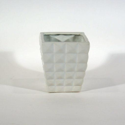 18 cm-es négyzet mintás kerámia kaspó