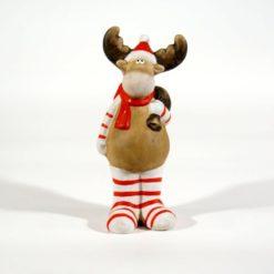 Vidám karácsonyi kerámia figura