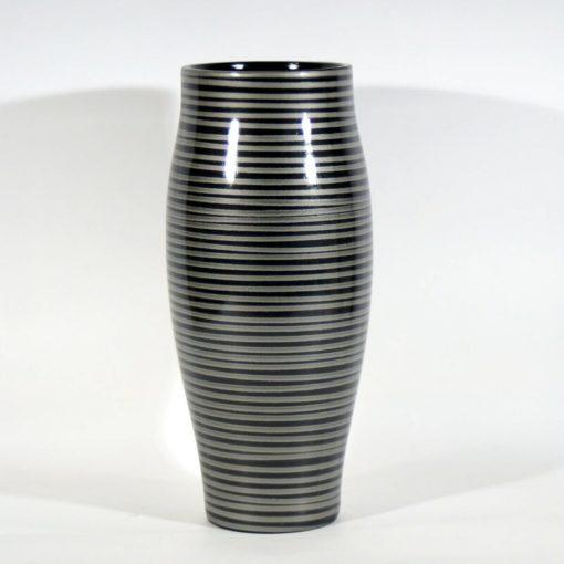 Modern, csíkos kerámia váza