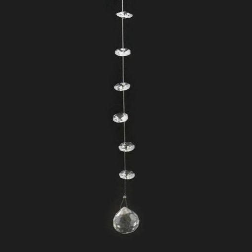 Dekor kristályok, üvegből, fém szálon