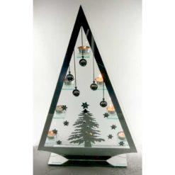 Nagy piramis dekoráció, mécsestartókkal