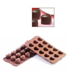 Szív alakú praliné készítő