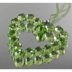 Szív alakú dekoráció, dekorkristály