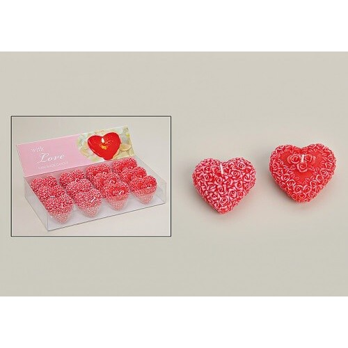 Romantikus, szív alakú gyertya