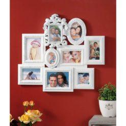 9 részes, műanyag, romantikus fali képkeret