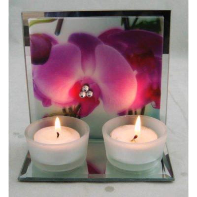 20552 Mécsestartó orchidea mintával