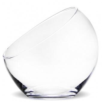 Üveg váza Clear fél gömb 16cm
