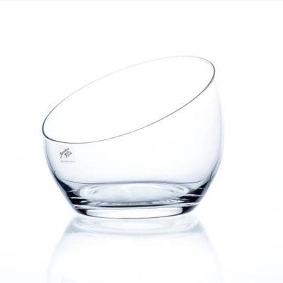 Üveg váza fél gömb 18cm