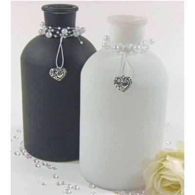 Matt fehér üveg váza