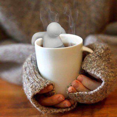 Teafilter tartó emberkés