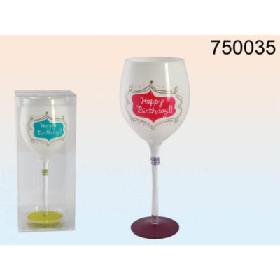 Happy Birthday boros pohár