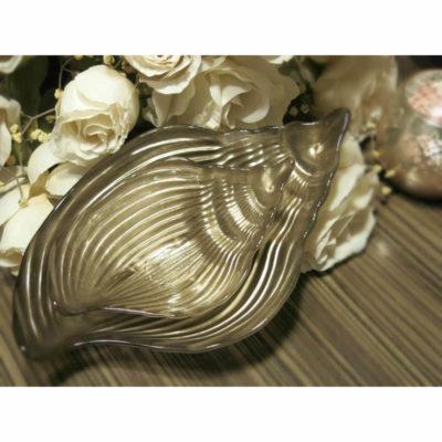 kagyló dísztál ezüst
