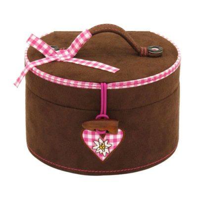 Ékszerdoboz Bavaria barna-pink