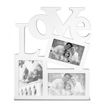 Képkeret Love Story 3 részes fehér