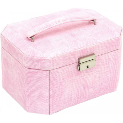 Ékszerdoboz Candy rózsaszín