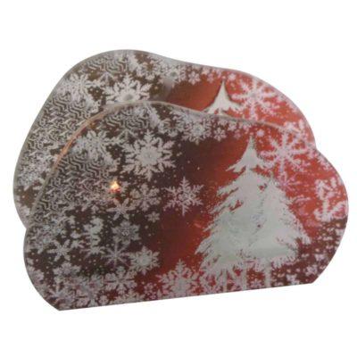 Karácsonyi mécsestaró téli táj