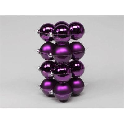 Karácsonyfadísz sötét lila 8cm