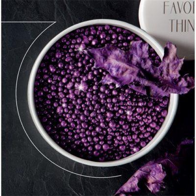 Dekor golyó csillámos lila