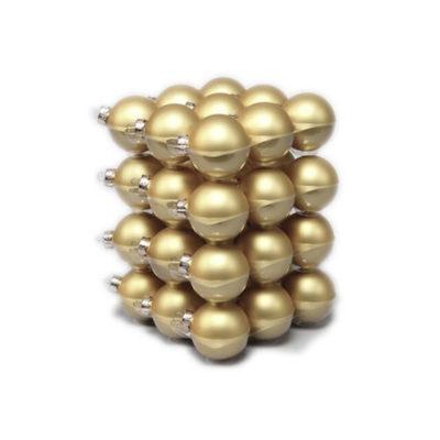 Karácsonyfadísz 5,7 cm matt arany