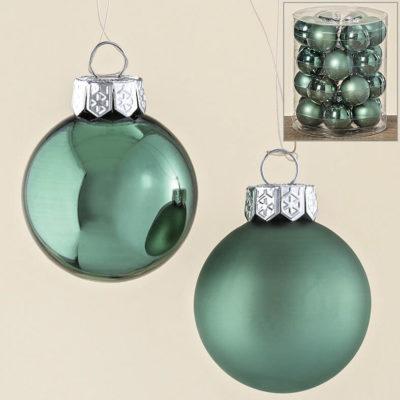 Karácsonyfadísz military zöld 4cm