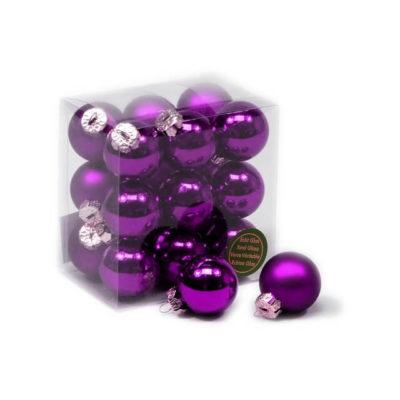 Karácsonyfadísz sötét lila matt-fényes 3cm