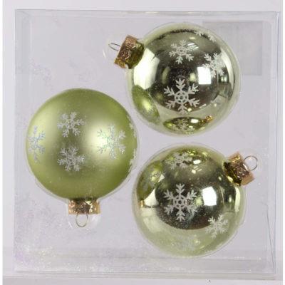 Karácsonyfadísz zöld hópihe 8cm
