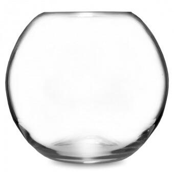 Clear gömb üveg váza 20cm