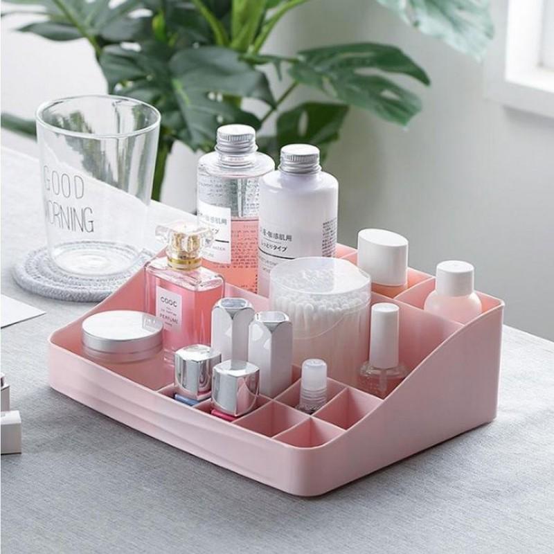 1494e604b9f2 Kozmetikai tároló doboz - pasztell rózsaszín - Home & Design Lakberendezés  és Ajándék