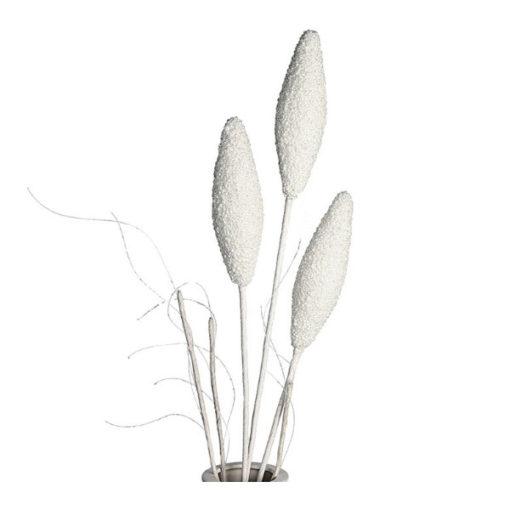 """3 fejű hosszúkás fehér habvirág 70cm """"Mendoza"""""""