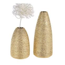 """Csillogó arany színű kerámia váza """"Miro"""" 30cm"""