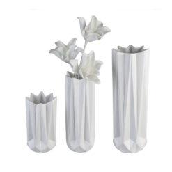 """Fényes fehér porcelán váza """"Zelko"""" 40cm"""