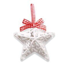 Karácsonyi dekorációs csillag 11x11x4cm